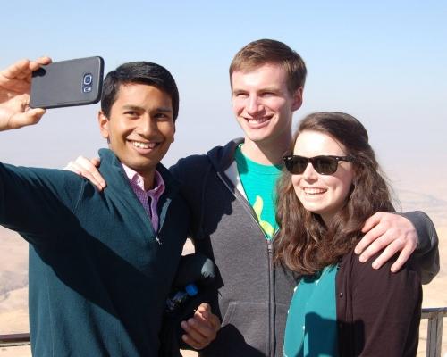 PBPL 85 participants Karna Adam, James Furnary, and Mariel Wallace at Mt. Nebo.