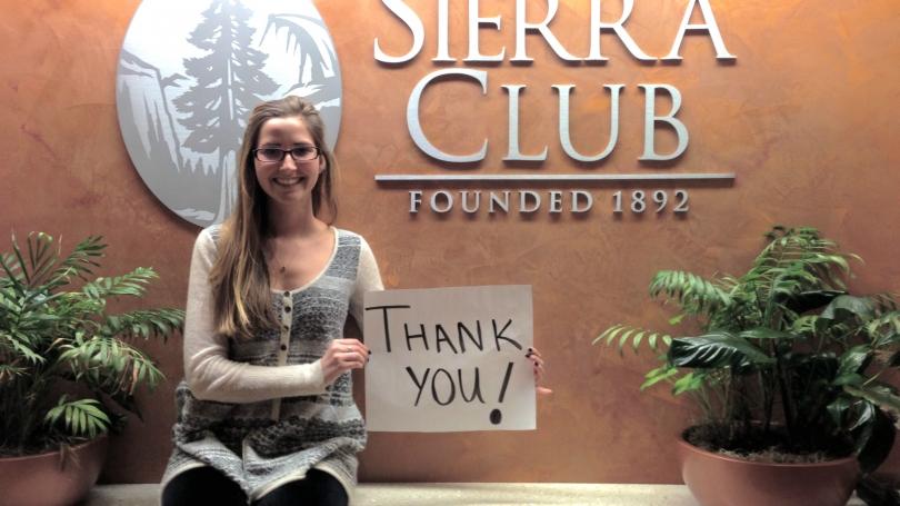 Catherine Cima at the Sierra Club