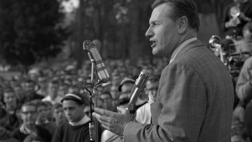 Nelson Rockefeller speaking at Dartmouth College.