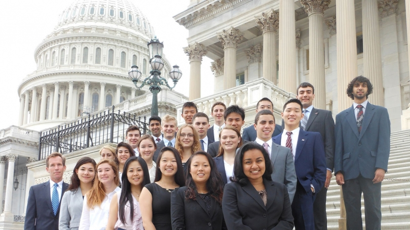 2014 First Year Fellows on the Capitol steps