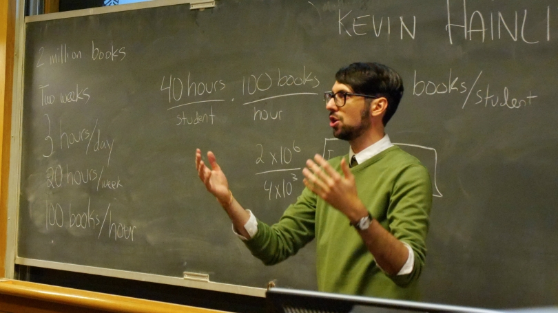 Dr. Kevin Hainline conducts a workshop about fermi problems